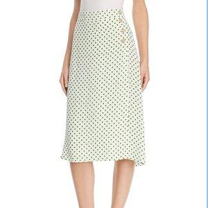 NWT Faithfull the brand Raquel midi skirt size 8